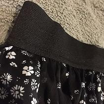 Women's Black and White Express Skirt Size S Photo