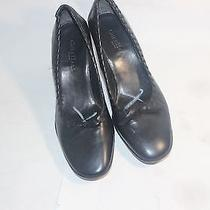 Women's Black Cole Haan Leather Heels Pumps Size 9b Photo