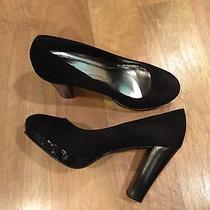 Women's Black Heels Size 7 Gently Worn Photo