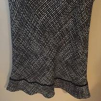 Women's Black Pattern Flouncy Skirt Photo