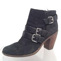 Women's Black Suede Dolce Vita Ankle Boots Size 8m  Photo