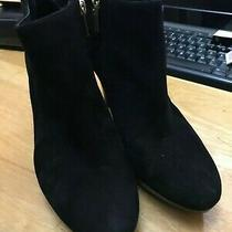 Women's Black Suede  Short Bandolino  Boots Size 8 Photo