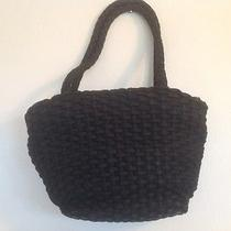 Women's Black Talbots Large Woven Linen Purse Photo