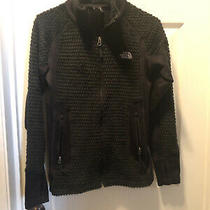 Womens Black the North Face Fleece Jacket Small Polyester Full Zip Fuzzy Photo