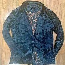 Women's Black Velvet Style Blazer-Sanctuary Brand-Size Medium Photo