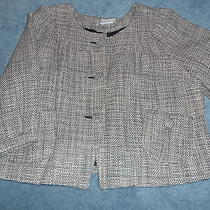 Women's Blazer Newport News Blush Lined 3/4 Sleeves 4 Cropped Photo