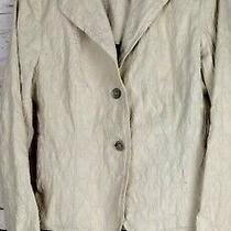 Women's Blazer Suit Jacket Anne Klein Size 10 Beige Casual Photo