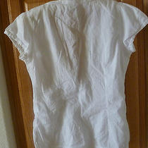 Womens Blouse by h&m White With Cup Sleeves  Photo