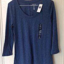 Womens Blue Easy Tee Le T-Shirt 3/4 Sleeve Top by Gap (Size Small) Brand New Photo