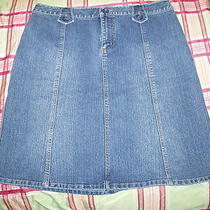 Women's Blue Jean Skirt Photo
