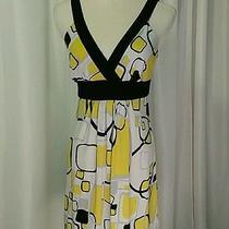 Women's Blush Brand Black Yellow Dress Size Medium  Photo