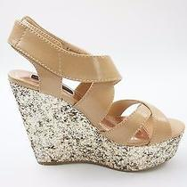 Women's Blush High Heels Wedges Sandals Material Girl Worship Shoes Size 8m 49 Photo