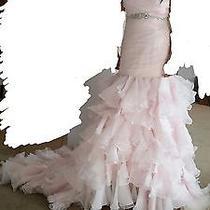 Women's Blush Pink Mermaid Wedding Dress Size 12 Us Photo