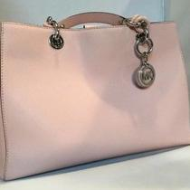 Women's Blush Pink Saffiano Leather Michael Kors Cindy Crossbody Handbag Photo