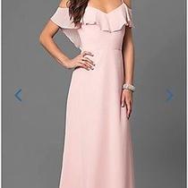 Women's Blush Prom Dress Photo