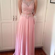 Women's Blush Prom Dress Size Small (Size 6) Photo