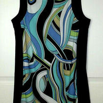 Women's Blush Sleeveless Mod Sheath Dress Black Trim Blue White Green Szmedium Photo