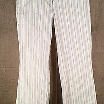 Women's Body by Victoria the Christie Fit Blue/cream Stripe Pants Size 4 Photo