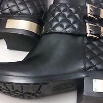 Women's  Booties Vince Camuto  Black  Leather Size 6m Photo