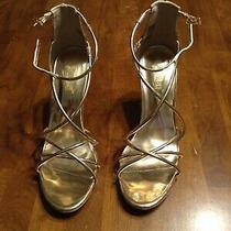 Women's Brash Strappy Sandal Heels Size 7.5 Rose Gold Photo