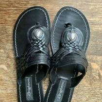 Women's Brighton Athens Sandals Size 9 Black Woven Photo