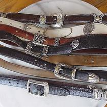 Women's Brighton Leather Belts Hand Tooled & Other Unknown Lot of 6  Photo