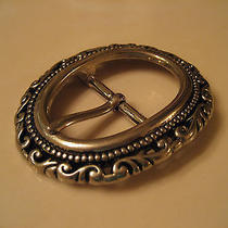 Women's Brighton Style Silver Plated Belt Buckle  Gorgeous Photo