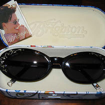 Women's Brighton Sunglasses Silvertone Heart Accents W/case Never Worn Photo
