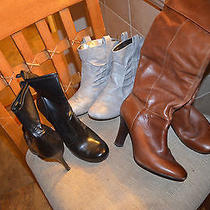 Women's Brown Black & Gray Boots Lot 3 Pr Size 9 Guess Others Look  Photo