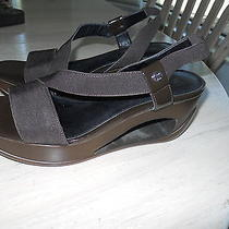 Women's Brown Calvin Klein Wedge Shoes in Size 6m Photo