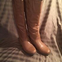Women's Brown Leather Boots Photo