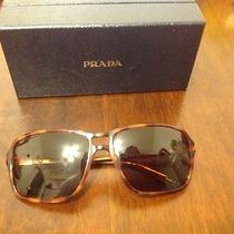 Women's Brown Prada Sunglasses With Case Photo