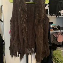 Women's Brown Rabbit Fur Vest Size S Worn Once Photo