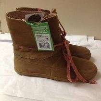 Women's Brown Suede Soul Shine Sanuk Ankle Boots Size 7 New Photo