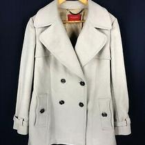 Women's Burberry London Wool Coat Burberry 100% Wool Light Grey Coat Size - 44 Photo
