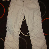 Women's  Burton Snowboard / Ski Pants Small Cream Lined Inside Photo