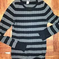 Women's Cable Knit Stripped Sweater From Gap-Size Large Photo