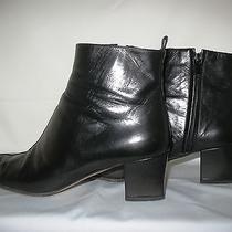 Women's Calvin Klein Pellame Kid Leather Fashion Boots (Articold Style) Photo