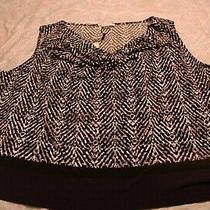 Womens Calvin Klein Sleeveless Black/white/purple Print Top Size 2x  New Photo