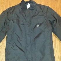 Women's Carhartt Jacket Size Medium Regular Black Waterproof Insulate Like New Photo