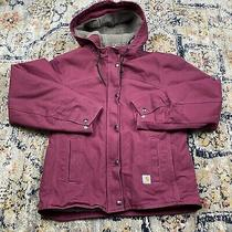 Womens Carhartt Sherpa Jacket Size Xs Maroon Photo