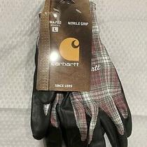 Womens Carhartt Work Gloves Nitrile Grip Gloves Size L Nwt Photo