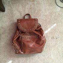 Women's Carmel Brown Gold Studded Book Bag Photo