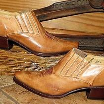 Women's Charlie One Horse Lucchese Wiskey Cowboy Boot Slip  Shoes 10b Photo