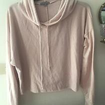 Women's Charlotte Russe Crop Hoodie Size L Light Blush Great for Fall Photo