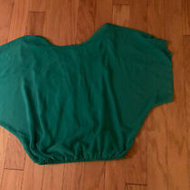 Womens Chiffon Flowy Top Express /turquoise/size Xs / Pre Owned Photo