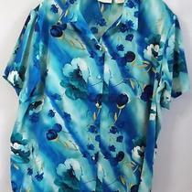 Women's Christie & Jill  Plus Size 2x Button Frontfloral Shirt Top Blouse Photo