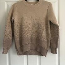 Womens Chubky Knit Jumper Pink Glitter Detail h&m Size S Slightly Cropped Photo