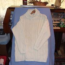 Women's Classic Elements Sweater  Size M 100% Acrylic Turtle Neck  Photo