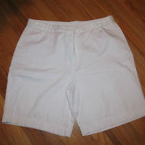 Women's Classic Elements White Shorts Size 18 Very Good Condition Photo